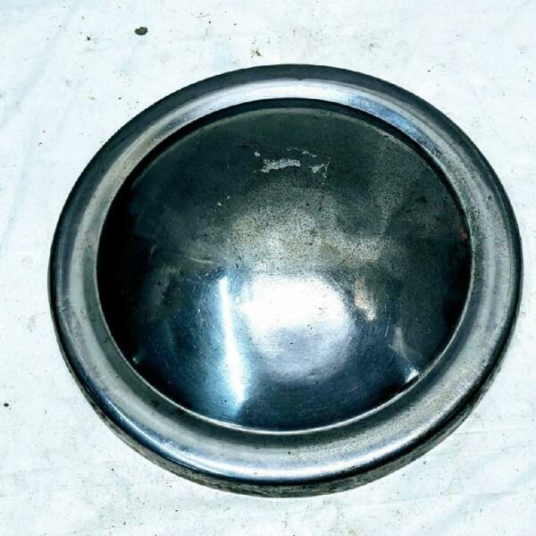 Vintage 9 Inch Stainless Dog Dish Baby Moon Hubcap Center Cap Rat Rod Used $46.99