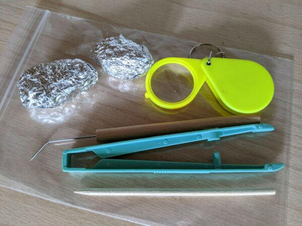 2 Owl pellet Kit With 3 Digging Tools and Magnifier Free Shipping $15.00