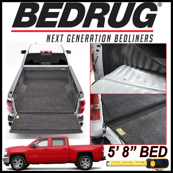 BEDRUG 2007 2018 Chevy Silverado 1500 Custom Bed Protection Liner Mat fits 5#x27;8quot; $439.00