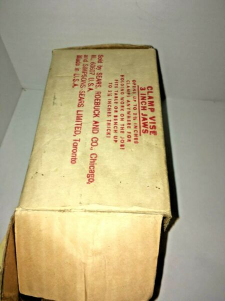 Vintage Box only the box for Sears Craftsman Clamp Vise 5246 GVC