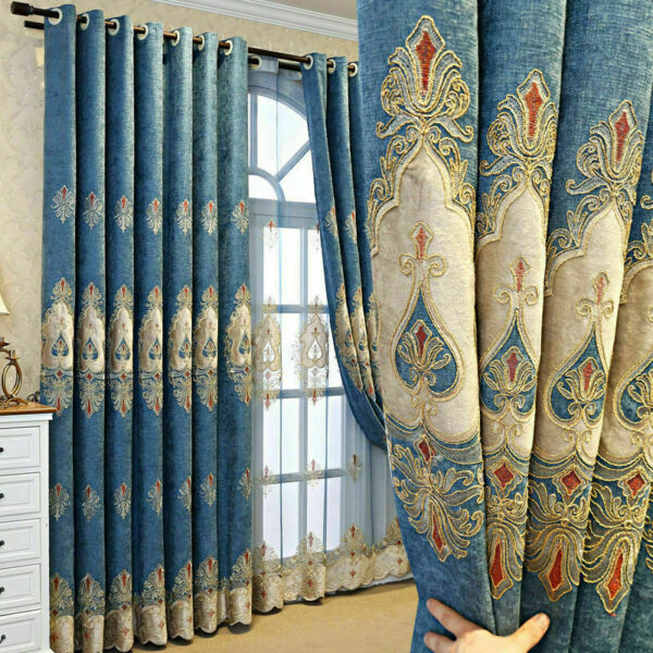Tulle curtains living room bedroom embroidered decorative curtains 2021