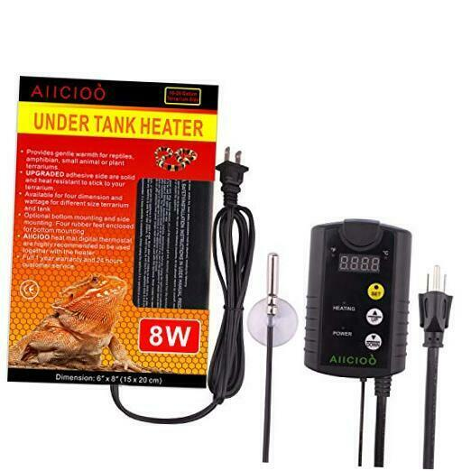 Under Tank Heater Thermostat Reptile Heating Pad with 8 Watt amp; Thermostat $42.57