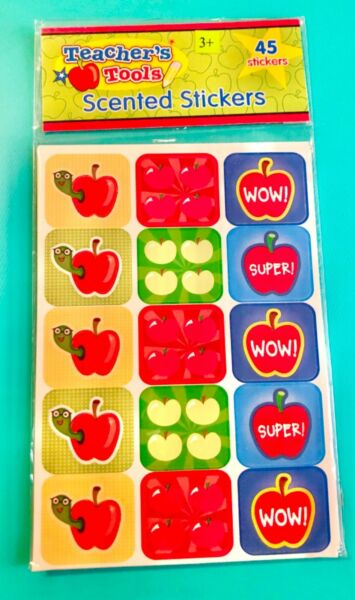 Teachers Tools 45 SCRATCH AND SNIFF SCENTED APPLE GRADING REWARDS STICKERS fall $4.45