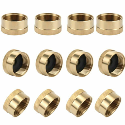 12x Solid Small Gas Tank Propane 1Lb Brass Cylinder Cap Refill Coupler Protect $18.03