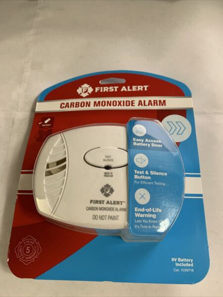 New First Alert Carbon Monoxide Alarm Battery Operated $14.40