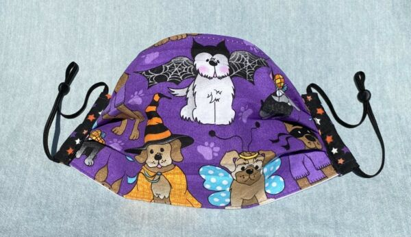 Fabric Face Mask Halloween Dogs $6.99