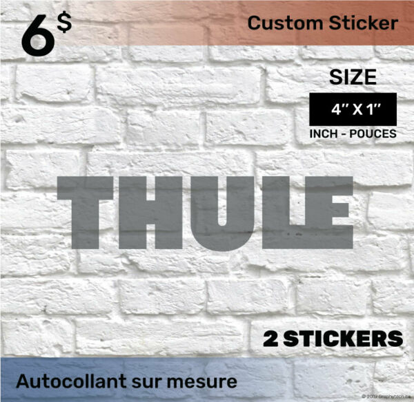 1 by 4 inch Sticker Decal Compatible THULE 2x black C $6.00