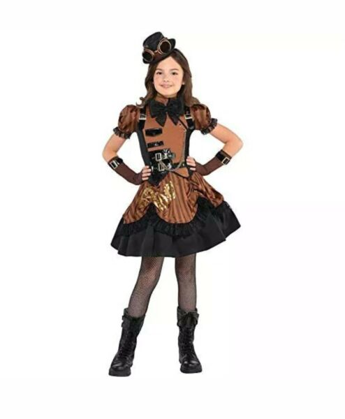 Steampunk#x27;D Halloween Costume For Girls Size Child X Large 14 16 $29.99