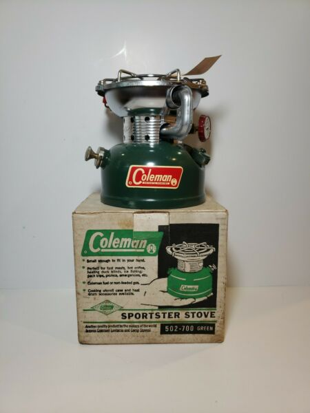 Vintage COLEMAN Sportster Stove 502 700 Green in Box with Paperwork $99.99