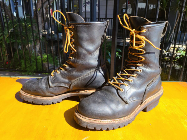 Red Wing Shoes 699 Logger Fireman Hunting Work Boots Men#x27;s Size 11 D USA