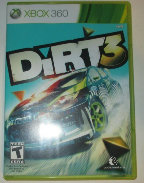 DiRT 3 Microsoft Xbox 360 Video Game Complete w Manual Tested free shipping $11.95