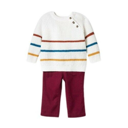 Baby Boys Striped Sweater and Bottom Set Cat amp; jack