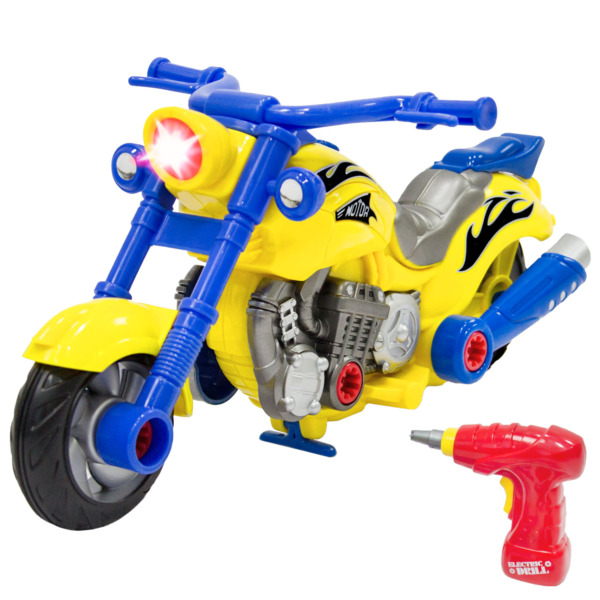 Best Choice Products Kids Toy 20 Piece Assembly Take A Part Motorcycle Set $22.99