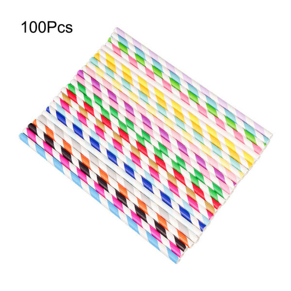 Christmas Paper Drinking Straws Disposable For Bars Party Supplies 6mm 100PCS $6.90