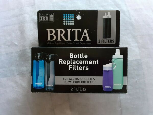One Package of Two 2 Brita Bottle Replacement Filters BB06 HARD SIDED amp; SPORT