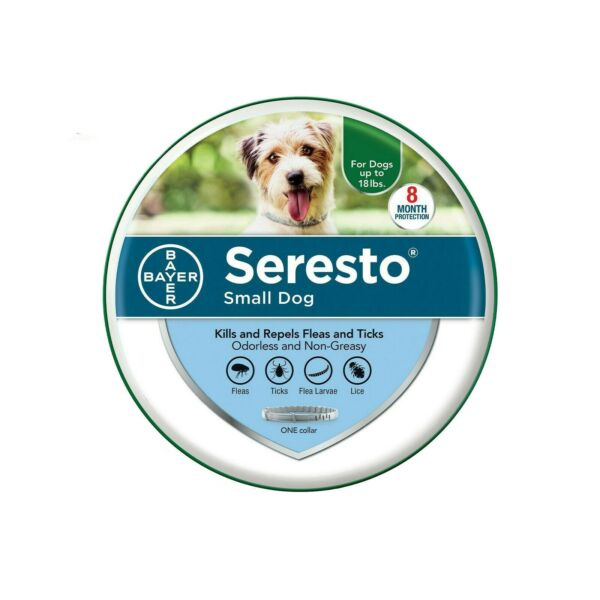 Bayer Seresto Flea and Tick Collar for Small Dog Up to 18lbs8 Months Protection $19.99
