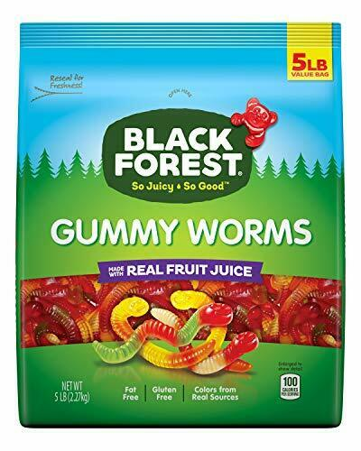 Black Forest Gummy Worms Candy 5 Pound Pack of 1