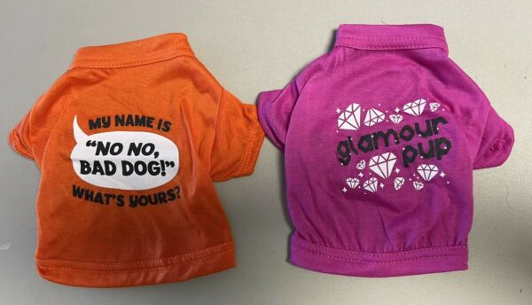 Dog Clothes Lots Of 2 t shirts CLEARANCE SALE size : XS $2.00