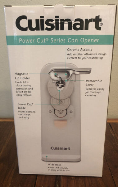 Cuisinart Deluxe Countertop Electric Can Opener White NEW IN BOX