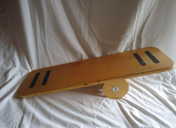 Used Wood Balance Board With Roller Unbranded. See description $15.99