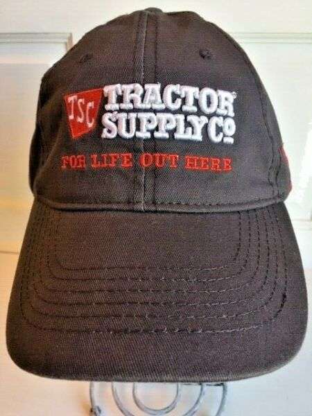 TSC Men#x27;s Tractor Supply Co Ball Cap Hat Grey Adjustable Strap Back NEW w tag H5 $7.99