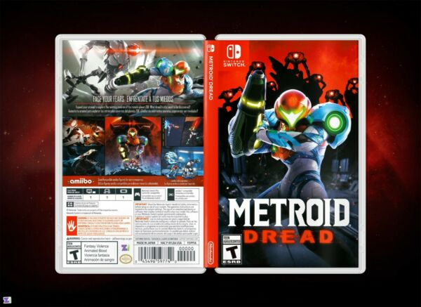 Metroid Dread Cover Art: Replacement Insert amp; Case for Nintendo Switch $6.99