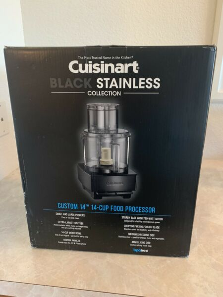 Cuisinart 14 Cup Custom Food Processor Black Stainless OPEN BOX