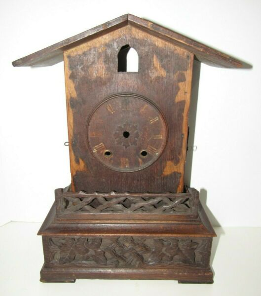 Antique Black Forest Cuckoo Mantel Clock Case For Parts Project