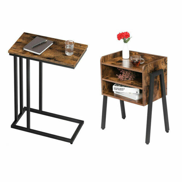HOOBRO C Side Table Nightstand Stackable End Table Bedside Tables Coffee Table