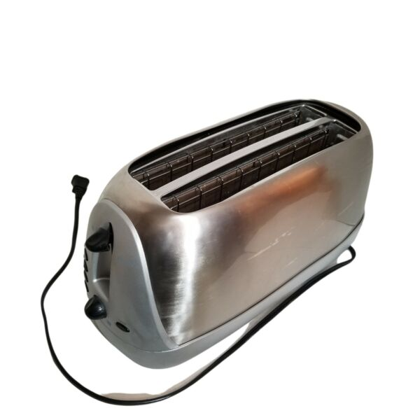 Oster Sunbeam Long Slot 4 Slice Toaster Stainless Steel 6330 Tested See Pics