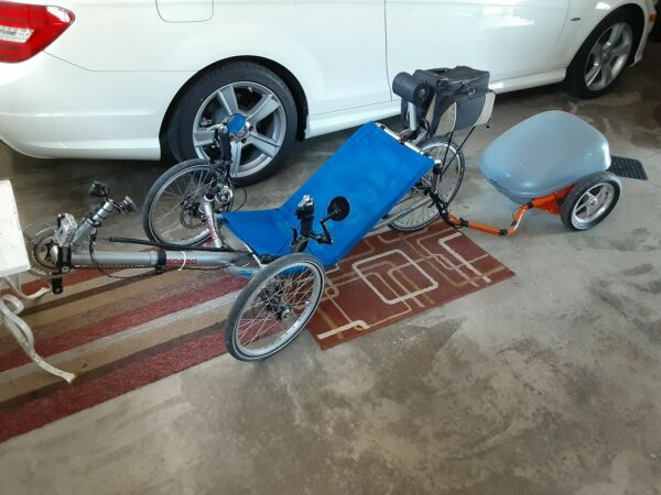 Catrike Speed with Ridekick Electric Trailer. 2 battery packs amp; charger included $1800.00