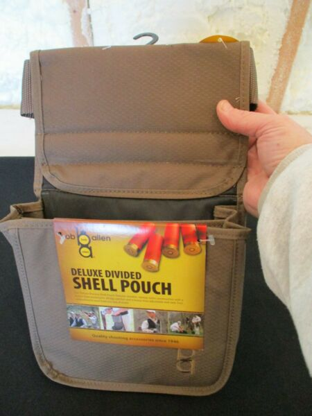 Bob Allen Deluxe Divided Shell Pouch with Belt Brass New 22120 $17.99