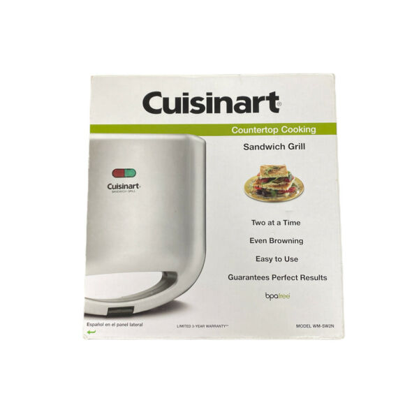 Cuisinart Grill Sandwich Maker Toaster Electric Cheese French Toast Countertop