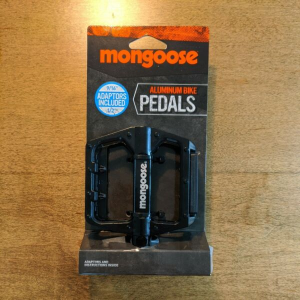 Mongoose Bike Pedal Set Of 2 Fits 9 16quot; amp; 1 2quot; Pedals New NWT Alloy Bicycle $18.99