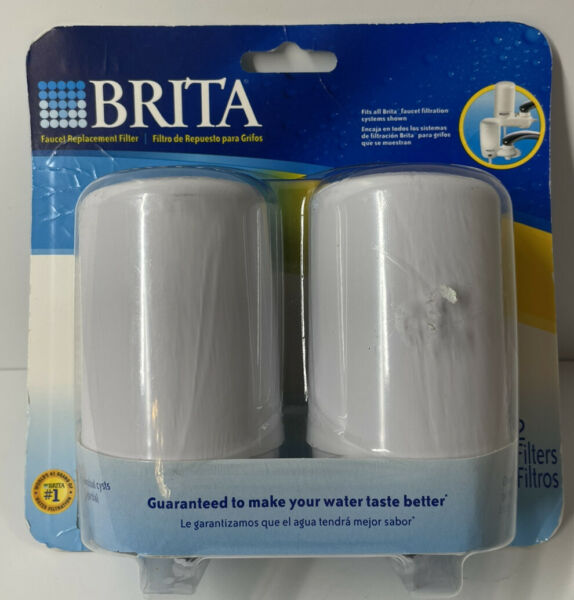 NEW Brita Faucet Replacement Water Filters Cartridges Model FR 200 White 2 Pack