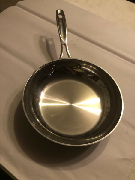 """Cuisinart Stainless Steel Cookware 8 """" Saute Frying Fry Pan Model TP22 FP20"""