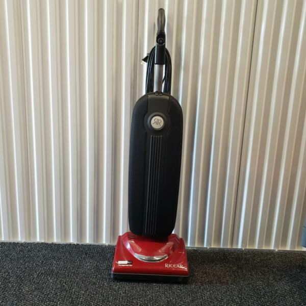 Riccar Supralite Upright Vacuum Model R10P Red Made in USA Tested Working