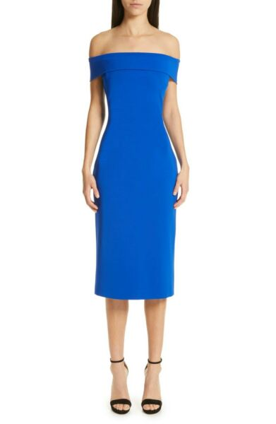 CUSHNIE New Off the Shoulder Pencil Dress lined $1395 sz 6 $219.90