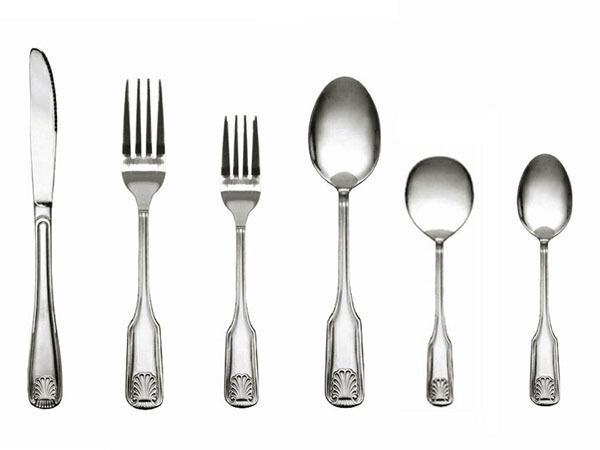 36 Pcs Sea Shell Stainless Steel Flatware Cutlery Thunder Group NEW