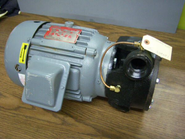 2HP LINCOLN MOTOR AND 1 1 2quot; PUMP 3PH 3510RPM NEW $425.00