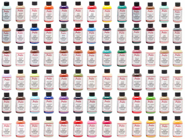 Angelus Brand Acrylic Leather Paint Waterproof all colors 4 fl.oz