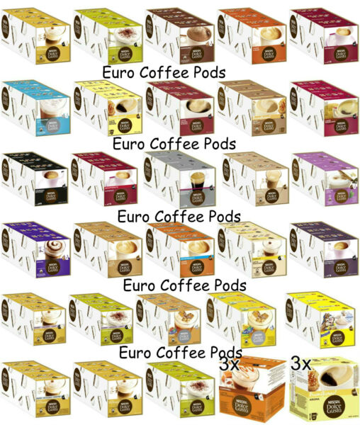 Nescafe Dolce Gusto Coffee Pods Capsules - 3 Boxes - Select From 40 Flavours 1F