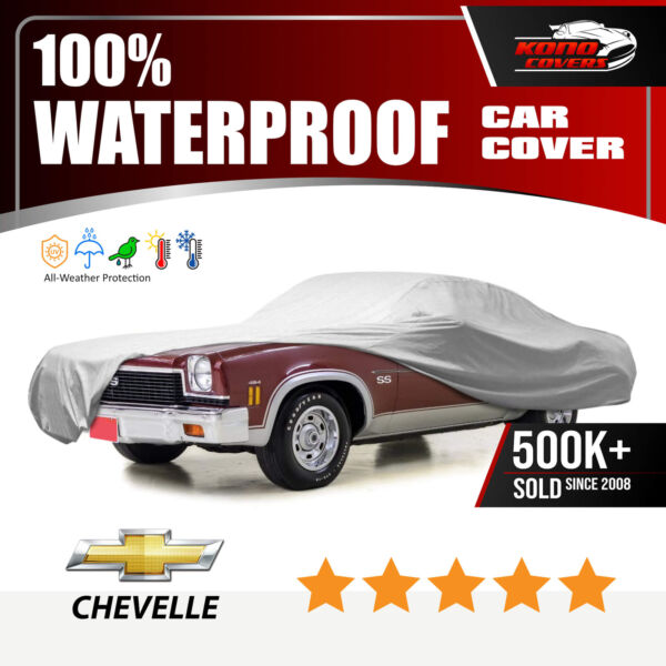 Chevy Chevelle 6 layer Car Cover Water Proof In Out door Rain Snow UV Sun Dust