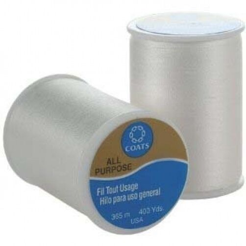White Coats & Clark All Purpose Thread 400 Yard Spool - Various Quantity Options