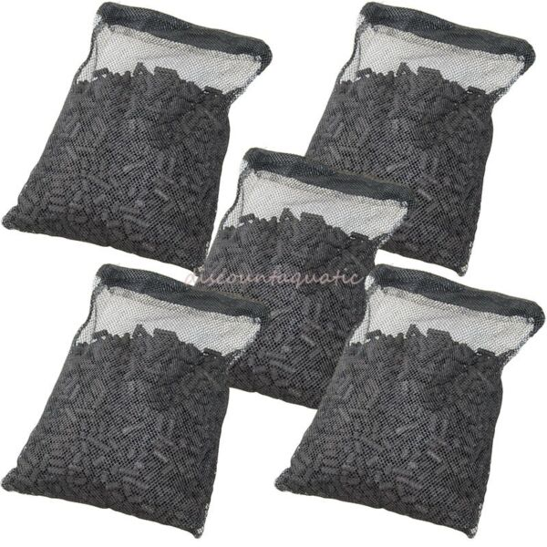 5 lbs Activated Carbon in 5 Media Bags for aquarium fish pond canister filter $15.99