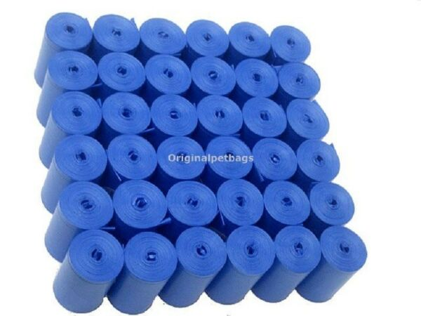 1012 Blue Scented Poop Bags Pet Waste Bags Coreless Refills13 14 mic.Made in USA $17.99