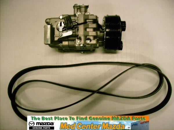 Mazda CX-7 Air Conditioner Compressor with Clutch and Belt EGY1-61-45Z
