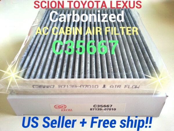 CARBONIZED AC CABIN AIR FILTER For TOYOTA Camry Corolla Tundra SCION TC Rav4 $8.95