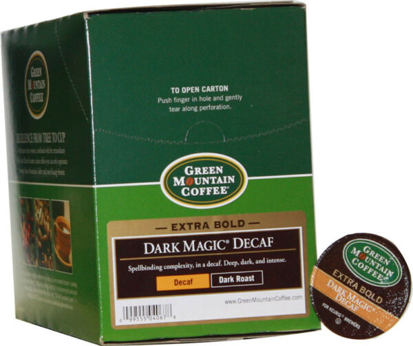 Green Mountain Coffee ~Dark Magic DECAF~ (24) Keurig K-Cups Dark Roast DECAF