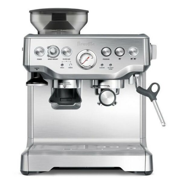 Breville BES870BSS the Barista Express™ Coffee Machine + BONUS TOWEL!